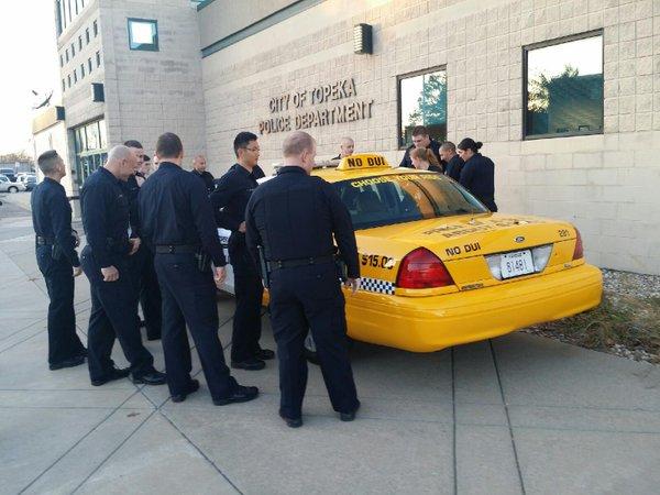 Half Taxi/Half Patrol Car. @Topeka_Police.