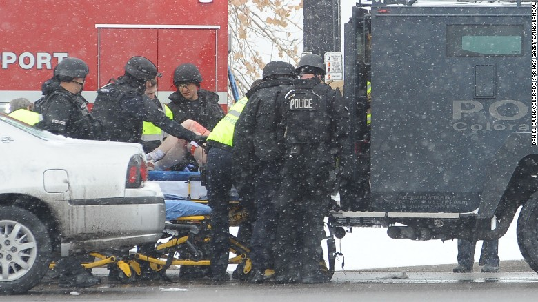 A victim is loaded into an ambulance. Photo Courtesy of CNN.