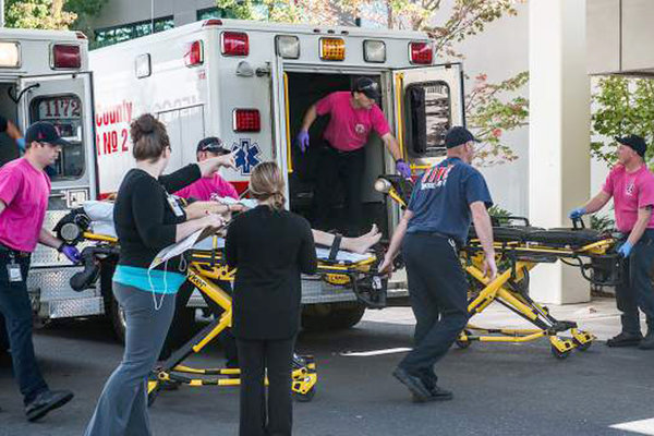 Victims of shooting taken to Mercy Medical Center. Photo Courtesy of TIME.