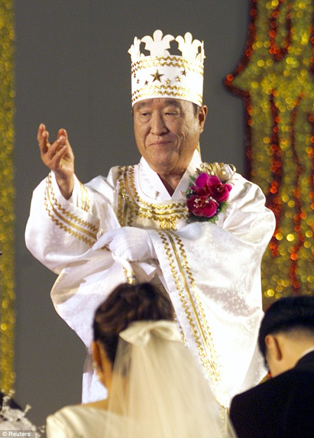 The late Rev. Sun Myung Moon, leader of the Unification Church | via dailymail.co.uk