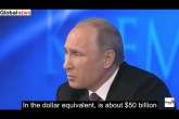 Putin Crushes BBC Smartass INCLUDING BBC propagandist's question