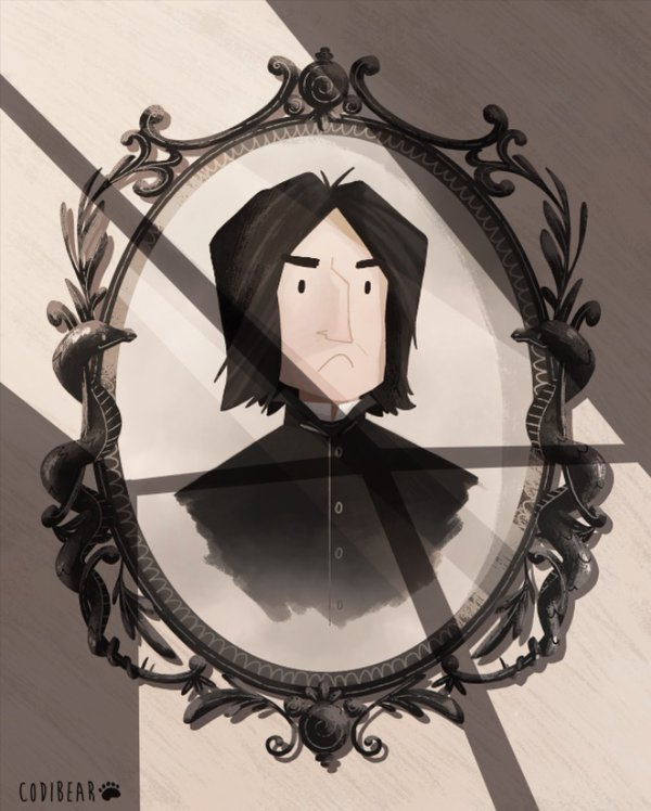 Alan Rickman Tribute. Image Courtesy of @codibearscave.