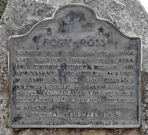 Fort Ross Plaque. Via noehill.com.