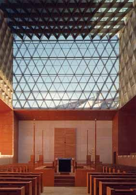Interior Ohel Jakob Synagogue, Germany. Via pinterest.com.