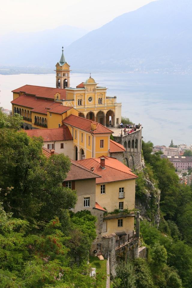 Madonna Del Sasso Monastery, Switzerland. Image Courtesy of indiatimes.com.