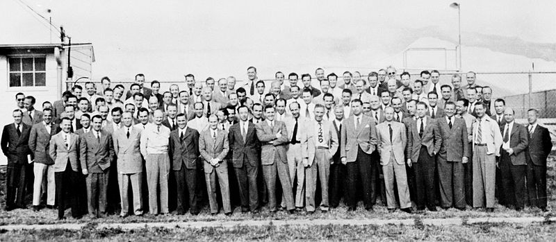 Project Paperclip team at Fort Bliss. Via commons.wikimedia.org.