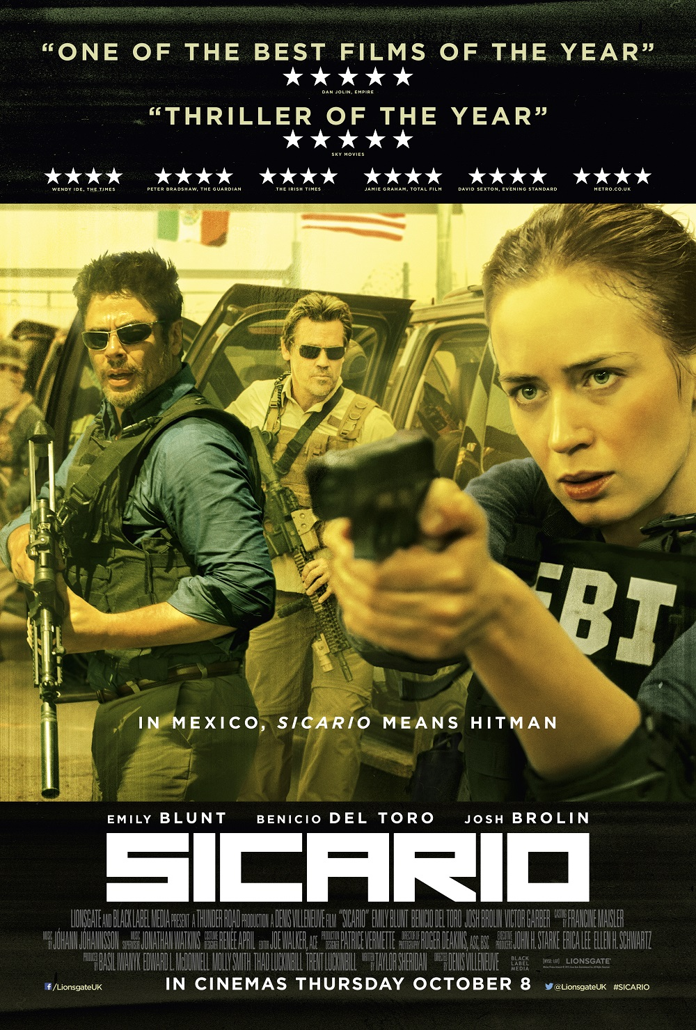 Sicario. Image Courtesy of goodfilmguide.co.uk.