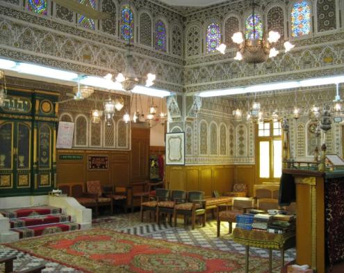 Slat Al Fassiyin Synagogue, Morroco. Image Courtesy of morocco-holidays-guide.co.uk.