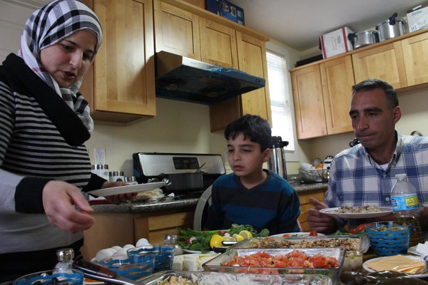 Syrian refugee family adapts to new life in Oakland. Image Courtesy of twitter.com/theIRC.